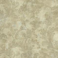 Sample Raised Leaf Velvet Vine Wallpaper in Gold design by York Wallcoverings