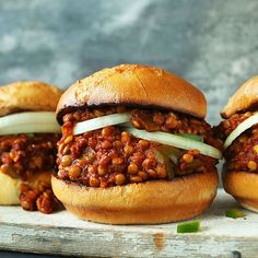 Lentil sloppy joes. Make it even quicker with tinned lentils