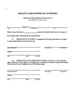 General Power Of Attorney Word Form  Legal