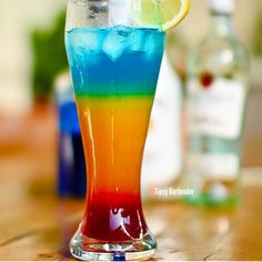 If you are looking for an impressive drink, the Barbados Surprise Cocktail is certainly it! Layered perfectly, this drink is a work of art. It's actually easier to make than it looks! To see how we did it, click here: http://www.tipsybartender.com/blog/the-barbados-surprise-cocktail