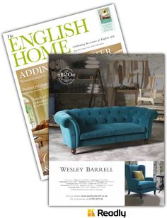 Readly - The English Home - 17 - The English Home May 2016 English House, English Style, Spa London, Tunbridge Wells, St Albans, Cushions, Room, Furniture, Home Decor
