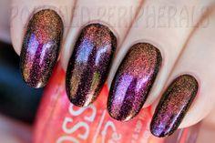 Joss Duotone Pink Sparkle over black.