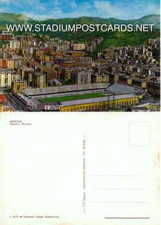 € 2,00 - code : ITA-018 - Genova - Ferraris - stadium postcard cartolina stadio carte stade estadio tarjeta postal