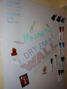 Magnetic -Dry Erase Wall- or Door!  Did you know that Rust-Oleum makes both Magnetic Primer, and Dry Erase Paint!:
