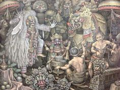 Image result for balinese painting moon