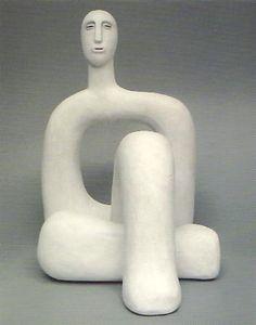 Carol Murphy, 'White Square Oval Torso' 2007, ceramic - three parts, 34 x 22 x 28.5 cm