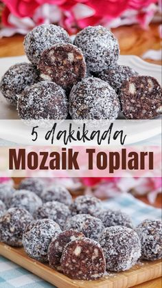 Mozaik Topları (videolu) – Nefis Yemek Tarifleri How to make Mosaic Balls (with video) Recipe? Illustrated explanation of this recipe in person's books and photographs of those who have tried it Author: Yasemin Atalar East Dessert Recipes, Easy Cake Recipes, Snack Recipes, Yummy Recipes, Subway Cookie Recipes, Baklava Cheesecake, Tasty, Yummy Food, Food Platters