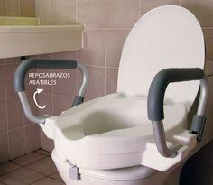 Alza WC Con Brazos 10 CM    Ayuda a pacientes con dificultades para sentarse o incorporarse.  Sencilla fijación mediante clips.  Reposabrazos abatibles para facilitar la salida.  Sin tapa. ...