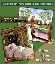 Variety of theme choices fall under the rustic style - Log cabin in the Woods - North woods camping theme - Camping Theme Bedroom Ideas - Western - cowboy theme - South Western style - Cowgirl Bedroom Ideas - On the…