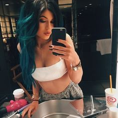 """And the """"can my Kylie Hair Kouture extensions distract you?"""" look   17 Selfies That Show How Much Kylie Jenner's Lips Changed This Year"""