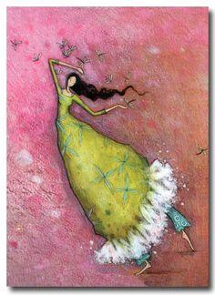 Dragonflies Dancer by Gaëlle Boissonnard - #illustration #art