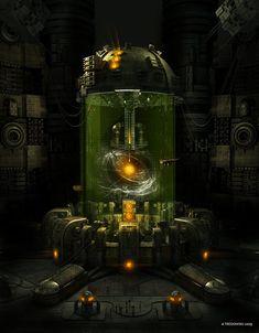 "The heart of DayStar Corp. - ""The Dark Crystal"" - Tech Corridor District. [Big Electron by ~tredowski on deviantART] Futuristic Art, Futuristic Technology, Technology Design, Energy Technology, Technology Gadgets, Sci Fi Fantasy, Fantasy World, Sci Fi City, Sci Fi Environment"