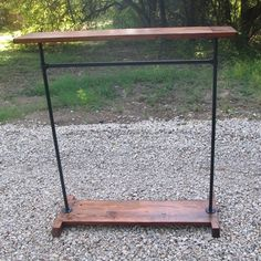 I'll take two please.... :) clothing rack, vintage industrial, rustic, reclaimed wood and steel. $225.00, via Etsy.