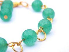 Jade Bracelet | FREE UK DELIVERY | Phillipa Jane Designs | Christmas Gift for Her | Semi Precious Stones | Green Jade Bead Wrist-Piece