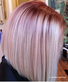 Hair By Heather Leigh Ford Root Smudge: 20ml Oway Hcolor 8.66 Deep Red Light Blonde + 10ml Oway Hcolor 11.17 Frosted Platinum + 5ml Oway Hcolor 0.7 Purple Booster with 30ml Oway Hcatalyst 20 Volume Cream Developer for 35 mins Toner: Oway Hcolor 11.17 Frosted Platinum + Oway Htone 9 Volume Cream Developer