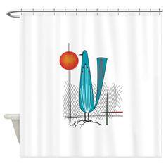 Mid-Century Modern Shower Curtain on CafePress.com