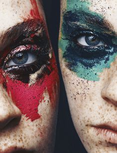 I kind of weirdly like this. It's kind of a chic war paint look.