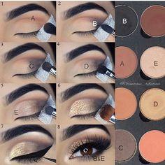 Neutral glam! #EyeshadowIdeas