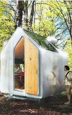 Image 9 of 9 from gallery of Diogene / Renzo Piano. Photograph by Renzo Piano Renzo Piano, Cabin Design, House Design, Door Design, Trailer Casa, Microhouse, Off Grid House, Vitra Design, Tiny House Cabin