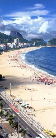 Copacabana Beach, Rio de Janeiro, Brazil by Eva0707
