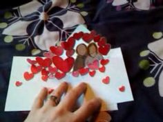 Pop-up Valentines Day Card by @rachelcreative