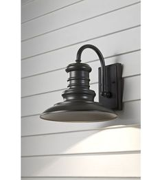 Murray Feiss Redding Station 1 Light Outdoor Wall Lantern in Restoration Bronze OL8601RSZ   Ext. over deck $73.48 DB