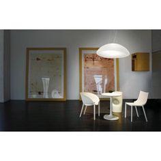 Nowoczesna lampa wisząca z serii Infinita - producent Vistosi. #Vistosi #Infinita #lampy_wiszące #lampy_do salonu #oświetlenie #light #design #metal #white #sklep_abanet #lampy_kraków #abanet_kraków