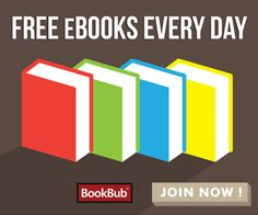 Free eBooks! BookBub alerts you to limited-time free and discounted eBooks matching your interests, and BookBub works with all major devices: Kindle, Nook, Android, iPad and Sony Reader.  Who doesn't love #FREE! #frugal