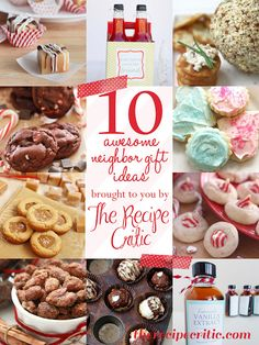 10 awesome neighbor gifts at https://therecipecritic.com  Some awesome ideas to give your neighbors this holiday season!