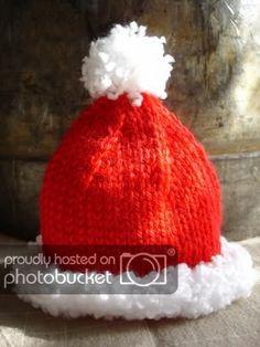 30ecf04827c Preemie and Newborn Santa Hat Knit Pattern for Christmas Free ...