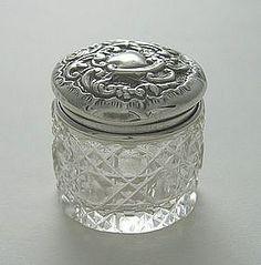 Edwardian dressing table jar