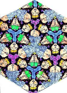 Escher style, grade 7