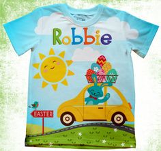 Personalized Easter T-shirt Boys or girls by Personalizedkiddie