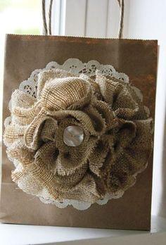 How to Make Burlap Flowers. | http://handmadness.com/2017/05/11/make-burlap-flowers/
