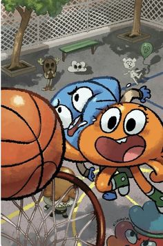 Gumball being dunked by darwin Cartoon Crossovers, Cartoon Memes, Cartoon Shows, Cartoon Characters, Cartoons, Cartoon Wallpaper, Disney Wallpaper, Galaxy Wallpaper, Wallpaper Backgrounds
