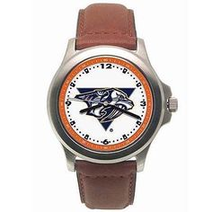 LogoArt Nashville Predators Men's Leather Rookie Watch - Nashville Predators Mens by Anderson. $52.99. Two year limited warranty.. Packaged in an attractive tin.. Water resistant. Support your favorite team and make sure you are on time for everything by wearing this NHL(r) leather Rookie watch from LogoArt(r). This officially licensed watch features a Citizen(r) quartz movement for accurate time keeping, a brass case, and genuine leather strap for a comfortable feel. The...