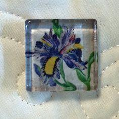 Monet Glass Magnetic Needle Nanny Needle Minder by WillowbendCottage on Etsy