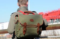 Canvas and leather bags Made in England by John Chapman. John Chapman, Urban Bags, Laptop Bag, Bag Making, Leather Bag, Backpacks, Luxury, Canvas, Men