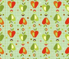 Apple Jacks fabric by cynthiafrenette for sale on Spoonflower - custom fabric, wallpaper and wall decals