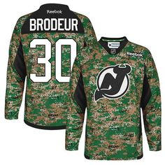 1ce6881d6 New Jersey Devils  30 Martin Brodeur New Veterans Day Jersey Devils Camo  Practice Veterans Day Jersey