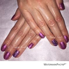 #CNDShellac with Glitter & foil