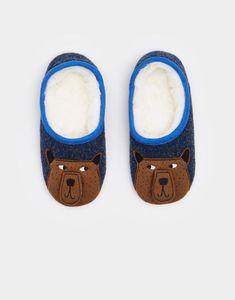 Joules Slippets Felt Novelty Slippers