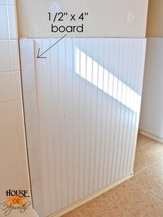 Installing beadboard in the bathroom | Tricky business.