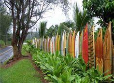 Surfboard fence, great idea