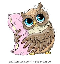 Explore high-quality, royalty-free stock images and photos by Svesla Tasla available for purchase at Shutterstock. Cute Owl Cartoon, Cartoon Drawings, Cute Drawings, Cute Owl Drawing, Coffee Cup Tattoo, Owl Facts, Owl Pictures, Christmas Owls, Colouring Pics