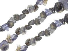 Iolite Fancy Pebble Set Of 3 Strands 15-16 Length Mm Varies By Size