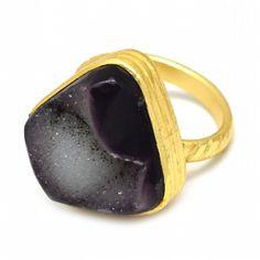 Brown Druzy Gemstone Handmade Ring Latest Ring Designs, Handmade Rings, Gemstone Rings, Fashion Jewelry, Shapes, Mugs, Gemstones, Brown, Tableware