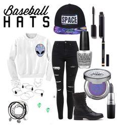 """Baseball hat"" by laurenjoooooy ❤ liked on Polyvore featuring Chicnova Fashion, Topshop, OPI, Urban Decay, Chanel, Yves Saint Laurent, MAC Cosmetics, baseballcap and baseballhats"