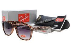 New 2014 Ray Ban Wayfarer Leopard Grain Purple Sunglasses