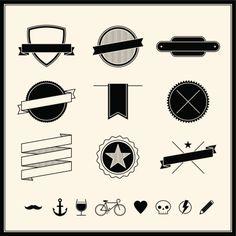 Royalty-free Vector Art: Simple Retro Design Elements